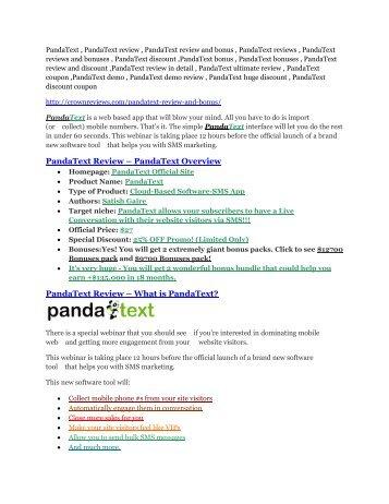 PandaText review-$24,700 bonus & discount