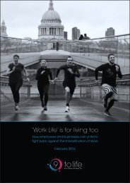'Work Life' is for living too