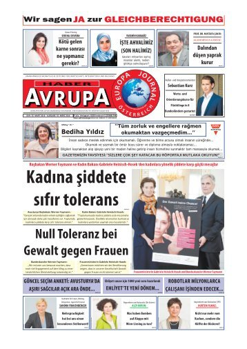 EUROPA JOURNAL - HABER AVRUPA MÄRZ2016