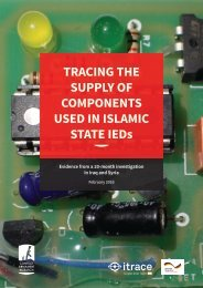 TRACING THE SUPPLY OF COMPONENTS USED IN ISLAMIC STATE IEDs