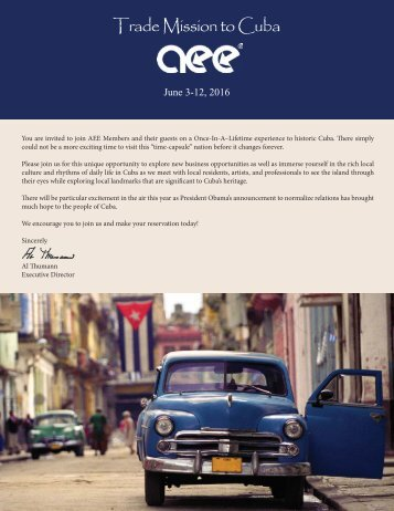 Trade Mission to Cuba