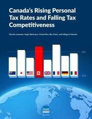 Canada's Rising Personal Tax Rates and Falling Tax Competitiveness