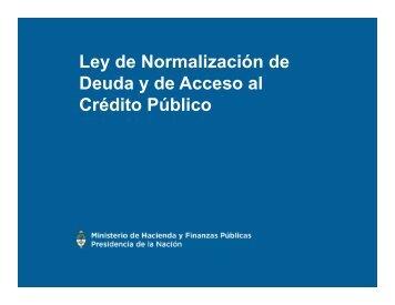 Deuda y de Acceso al Crédito Público