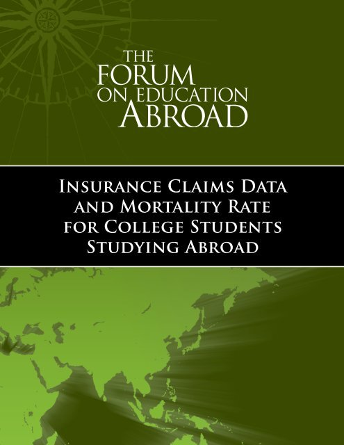 Insurance Claims Data and Mortality Rate for College Students