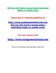 UOP CJA 303 Week 3 Group Paper Individual Rights vs