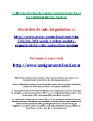 UOP CJA 303 Week 4 What Society Expects of its Criminal Justice System
