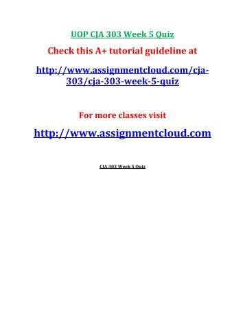 UOP CJA 303 Week 5 Quiz
