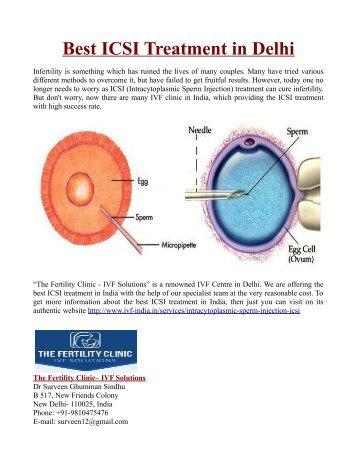 Best Intracytoplasmic Sperm Injection Treatment in Delhi
