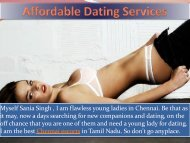 Attractive and Hot Dating Service by Sania