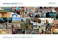 Annual report 2015 WE BUILD THE FUTURE WITH IT