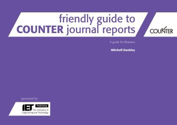 friendly guide to COUNTER journal reports