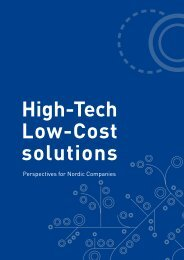 High-Tech Low-Cost solutions