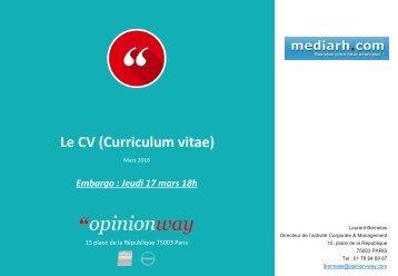 Le CV (Curriculum vitae)