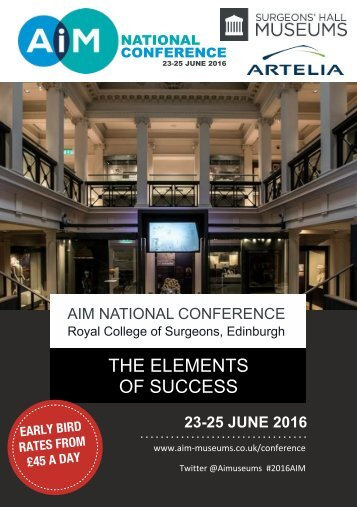 AIM National Conference Brochure  2016
