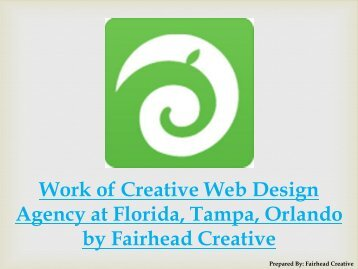 Work of Creative Web Design Agency at Florida, Tampa, Orlando by Fairhead Creative
