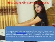 Top level dating service in Chennai for Fun by Ayesha