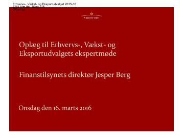 Finanstilsynets direktør Jesper Berg