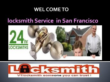 Locksmith services in San Francisco, CA