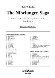 The Nibelungen Saga - Demopartitur (BO-035)