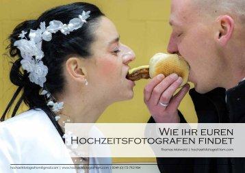 Findet euren Hochzeitsfotografen