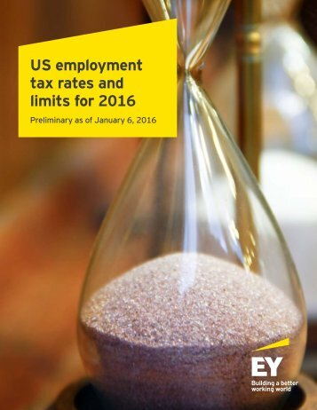 US employment tax rates and limits for 2016