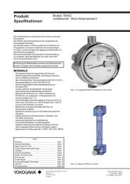 Produkt Spezifikationen - Zimmerli Messtechnik AG
