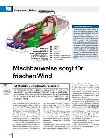 Mischbauweise sorgt für frischen Wind - KI