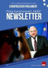Infobrief der Europaabgeordneten Petra Kammerevert - Ausgabe: März 2016 Nr.3