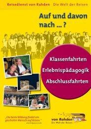 Auf und davon nach - Reisedienst von Rahden GmbH & Co. KG