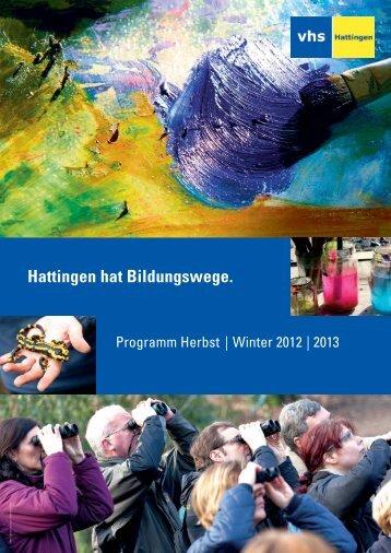Veranstaltungskalender - vhs Hattingen