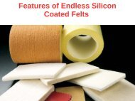 Endless Silicon Coated Felts