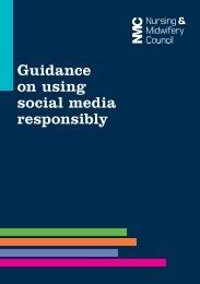Guidance on using social media responsibly
