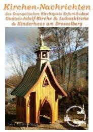 Kirchen-Nachrichten Erfurt Südost April Mai 2016