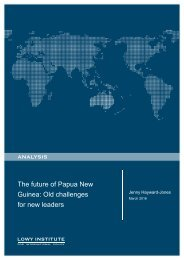 The future of Papua New Guinea Old challenges for new leaders