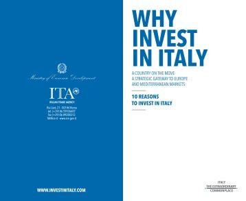 WHY INVEST IN ITALY