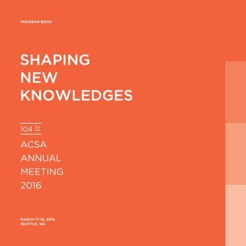 SHAPING NEW KNOWLEDGES