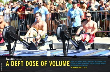 A DEFT DOSE OF VOLUME