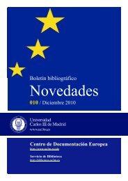 Centro de Documentación Europea diciembre 2010