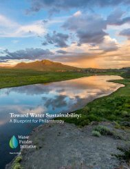Toward Water Sustainability