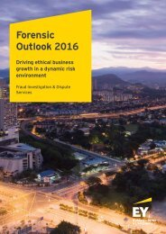 Forensic Outlook 2016