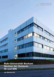 Ruhr-Universität Bochum - Neubau der Gebäude ID und IDN