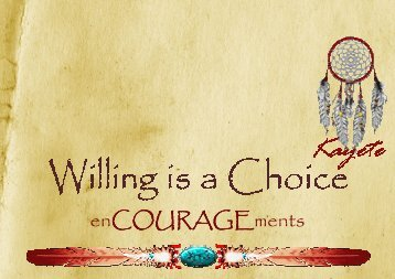 Willing is a Choice