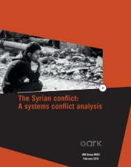 The Syrian conflict A systems conflict analysis