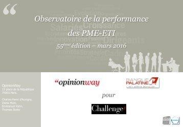 Observatoire de la performance des PME-ETI