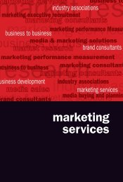 marketing service industry as
