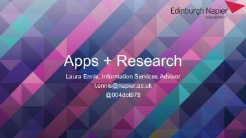 Apps + Research