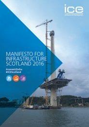 MANIFESTO FOR INFRASTRUCTURE SCOTLAND 2016