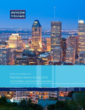 Prévisions Avison Young 2016 Immobilier commercial canadien
