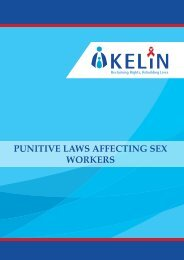 PUNITIVE LAWS AFFECTING SEX WORKERS
