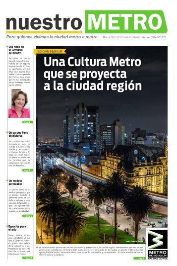 Una Cultura Metro que se proyecta a la ciudad región